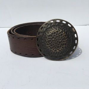 Boho Genuine Leather Italian Embellish Belt Small